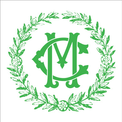 Kelly Green Summerville Monogram Square or Round Stickers