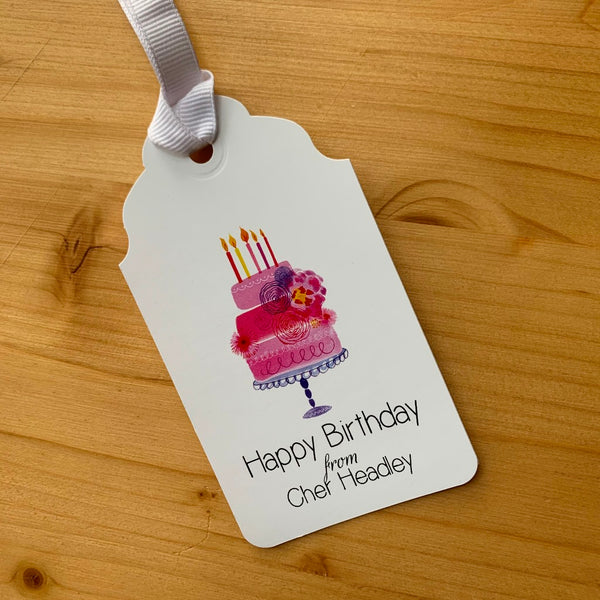 Happy Birthday Cake Gift Tags