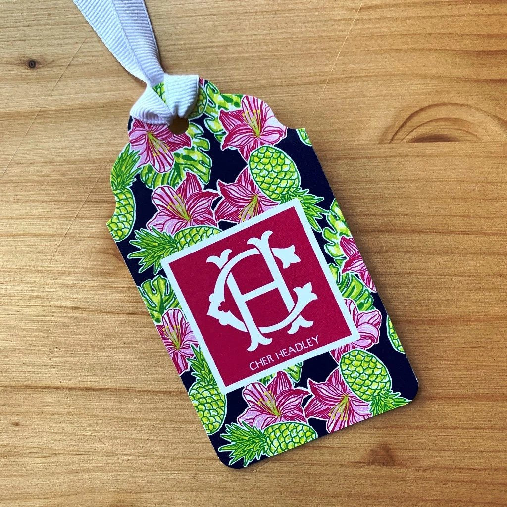 Tropical Breeze Monogram Gift Tags