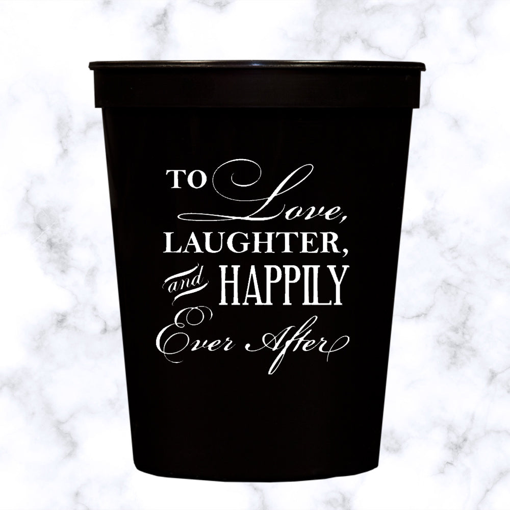 To Love & Laughter Stadium Cups