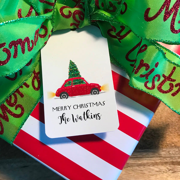 Holiday Compact Tree Delivery Gift Tags