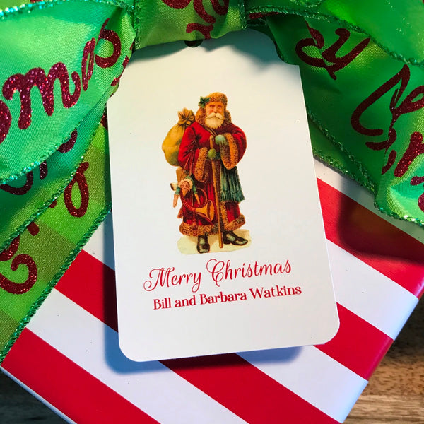Holiday Vintage Santa Gift Tags