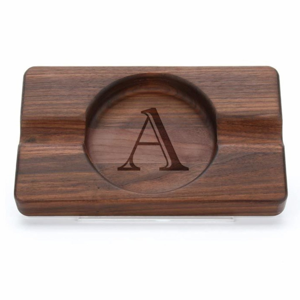 Custom Walnut Double Cigar Ashtray