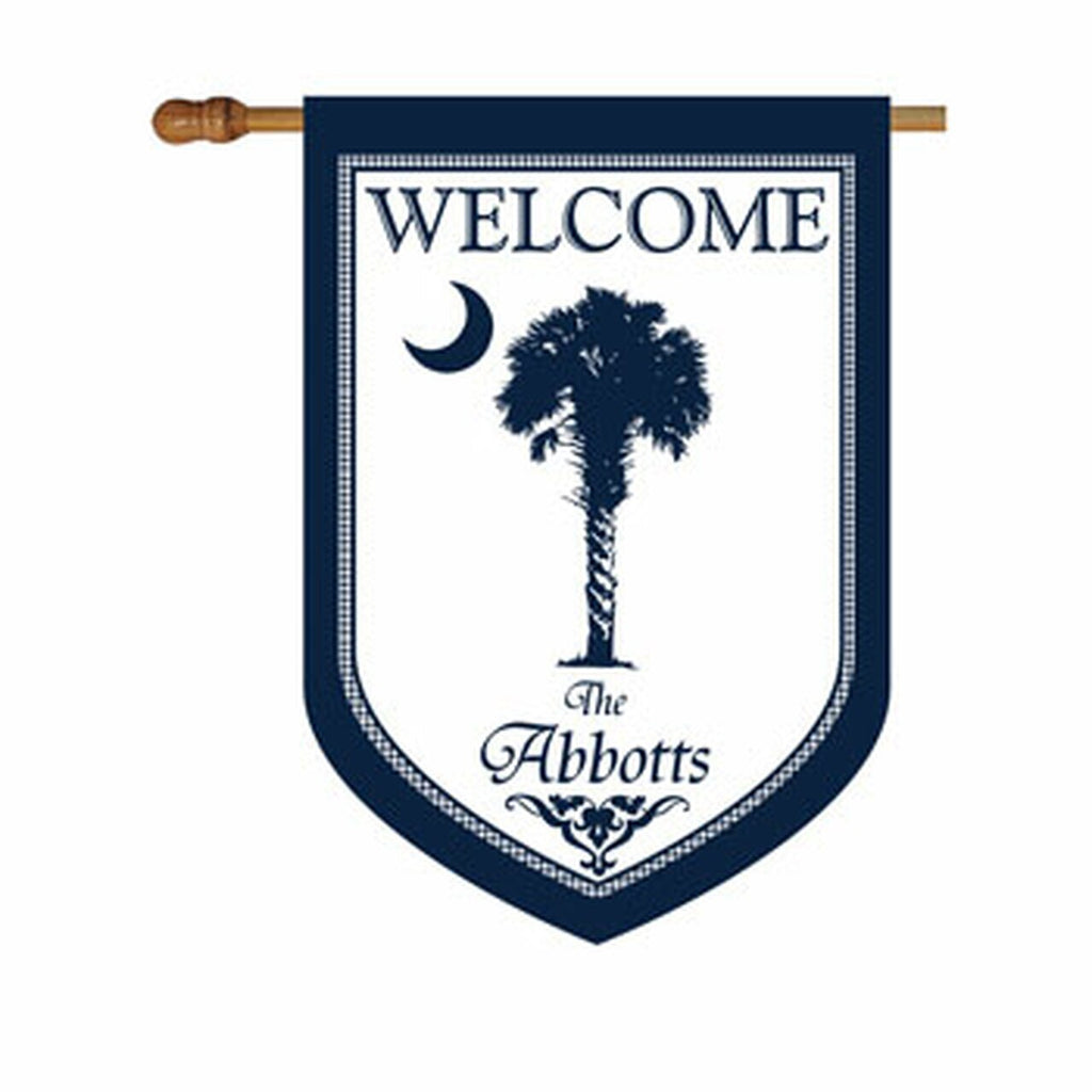 Premium Blue Palmetto House or Garden Flag