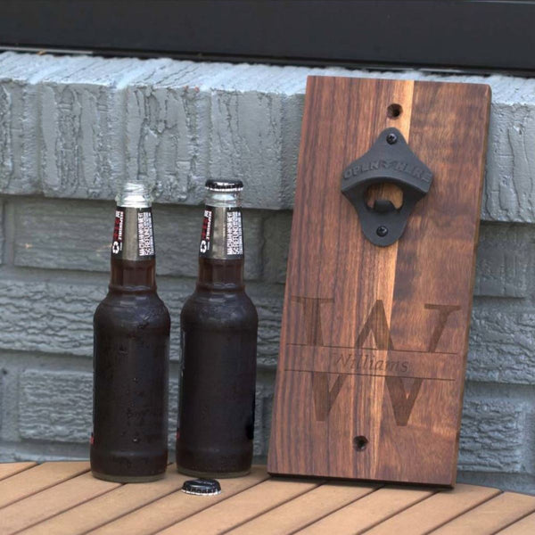 Custom Walnut Bottle Opener