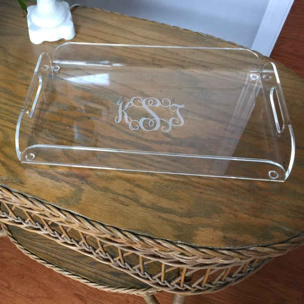 Acrylic Engraved Monogram Serving Tray