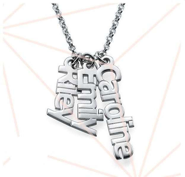 Petite Sterling Vertical Name Necklace