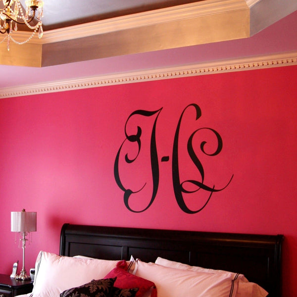 Entwined Wall Monogram Decal