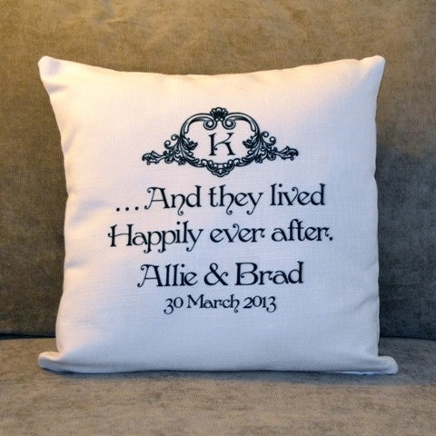 Custom Pillow - Happily Ever After