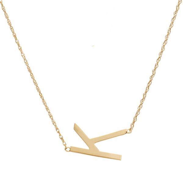 Single Sideways Letter Necklace