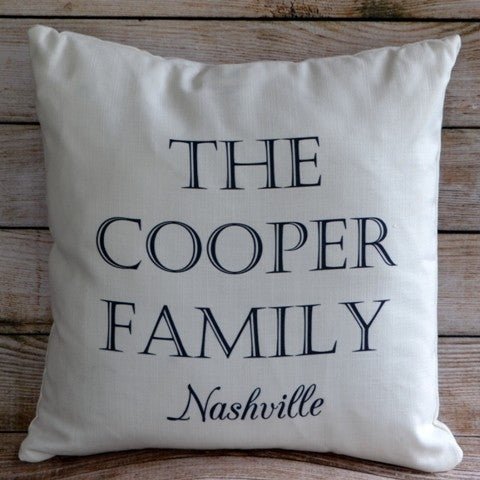 Custom Pillow - Family