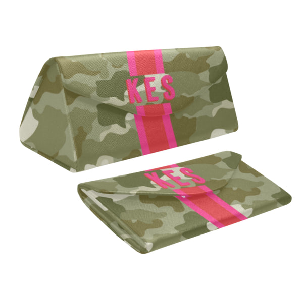 Green Camo Eyewear Case