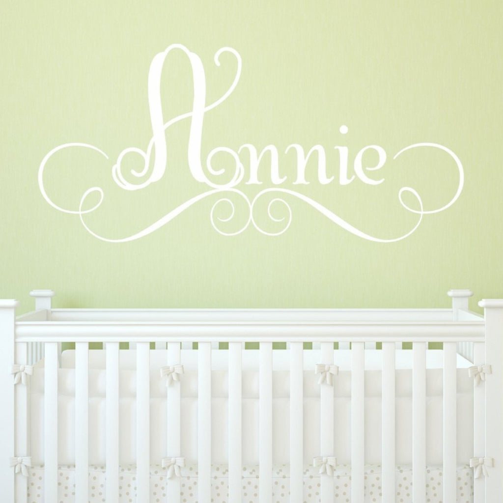 Flourish Name Wall Decal