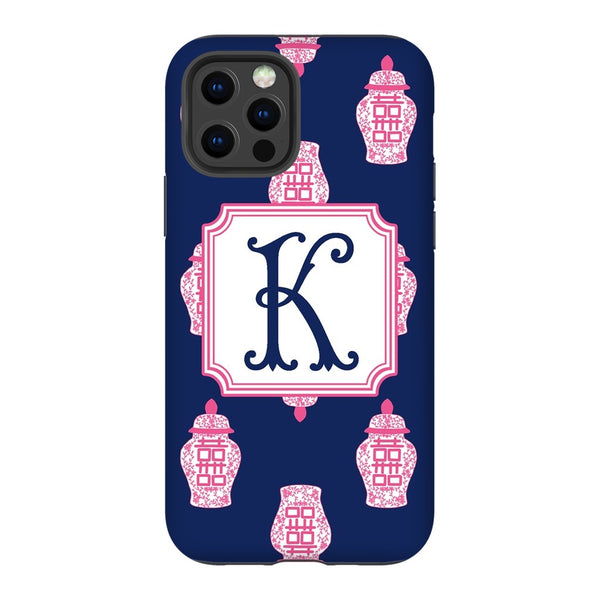 Navy Ginger Jars Phone Case