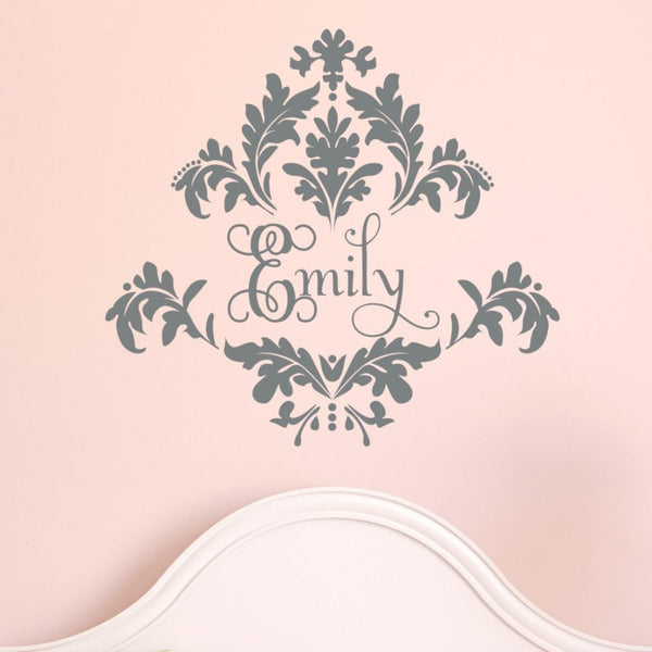 Damask Name Wall Decal
