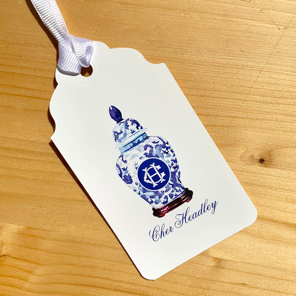 Ginger Jar Monogram Gift Tags