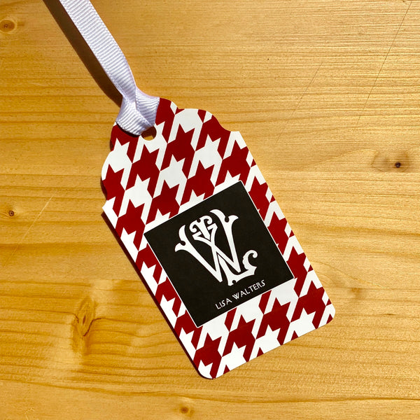 Houndstooth Monogram Gift Tags - Choose Colors