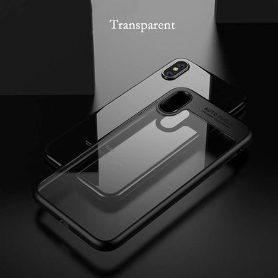Phone Cases For iPhone X Case Luxury Transparent TPU & Acrylic HD Ultra thin Back Cover For iPhone X Fitted