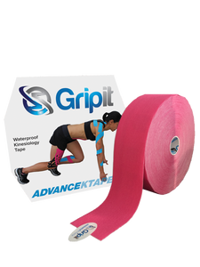 "GRIPIT ADVANCE WATERPROOF KINESIOLOGY TAPE - JUMBO ROLL - 2"" X 34 YDS. - PINK"