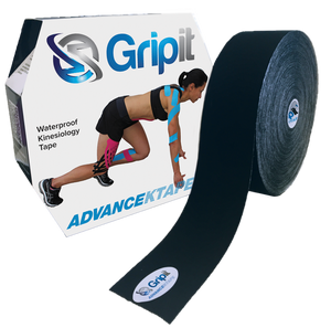 "GRIPIT ADVANCE WATERPROOF KTAPE - JUMBO ROLL - 2"" X 34 YDS. BLACK"