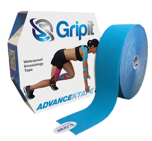 "GRIPIT ORIGINAL KINESIOLOGY TAPE - FAT ROLL - 4"" X 5.5 YDS. - BLUE"