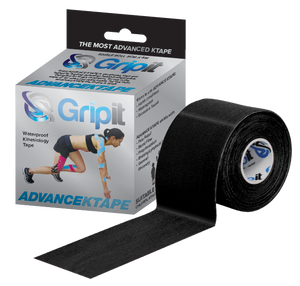 "GRIPIT ADVANCE WATERPROOF KINESIOLOGY TAPE - 2"" X 5.5 YDS. - BLACK"