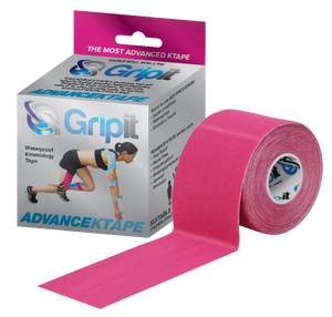 "GRIPIT ADVANCE WATERPROOF KINESIOLOGY TAPE - 2"" X 5.5 YDS. - PINK"