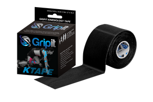 "GRIPIT ORIGINAL KTAPE - 2"" x 5.5 YDS. - BLACK"
