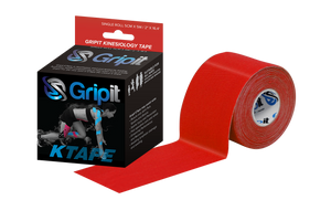 "GRIPIT ORIGINAL KINESIOLOGY TAPE - 2"" x 5.5 YDS. - RED"