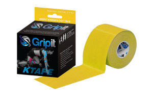 "GRIPIT ORIGINAL KTAPE - 2"" x 5.5 YDS - YELLOW"