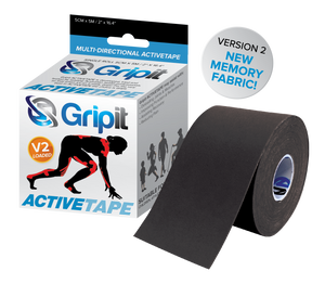 "GRIPIT ACTIVETAPE VERSION 2 - BLACK COLOR 3"" x 5.5 YDS"