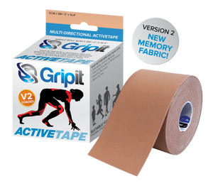 "GRIPIT ACTIVETAPE VERSION 2 - TAN/BIEGE COLOR 4"" x 5.5 YDS"