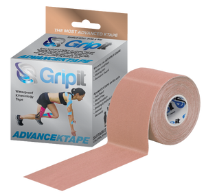 "GRIPIT ADVANCE WATERPROOF KINESIOLOGY TAPE - 2"" X 5.5 YDS. - TAN"
