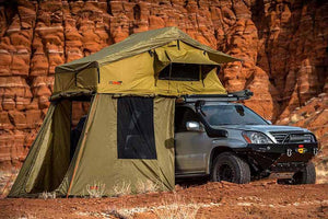 Litchfield 2+ Person Rooftop Tent Bed with Annex (Double Bed) - No Huddle Life