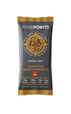 Mountain Mocha Espresso Energy Bar (Box of 12) - No Huddle Life