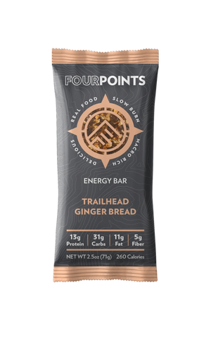 Trailhead Gingerbread Energy Bar (Box of 12) - No Huddle Life