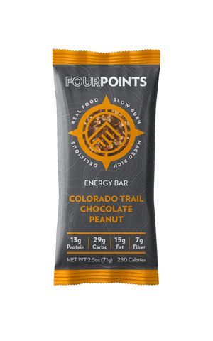 Colorado Trail Chocolate Peanut Energy Bar (Box of 12) - No Huddle Life