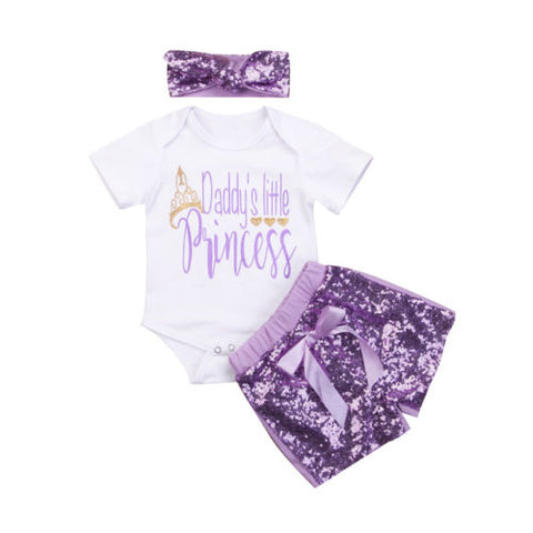 Daddy's Little Princess - Sequin Set