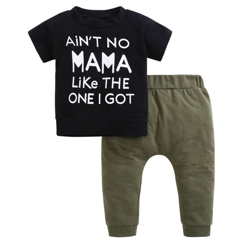 """Ain't no mama like the one I got"" Black/Green Set"