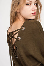 Dark Olive Lace-Up Back