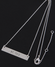 """Be You"" Bar Necklace - Silver"