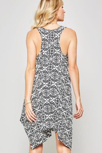 Hi/Lo Black and White Dress