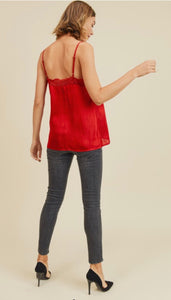 Red Lacy Tank