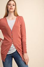 Button Detail Cardigan - Apricot