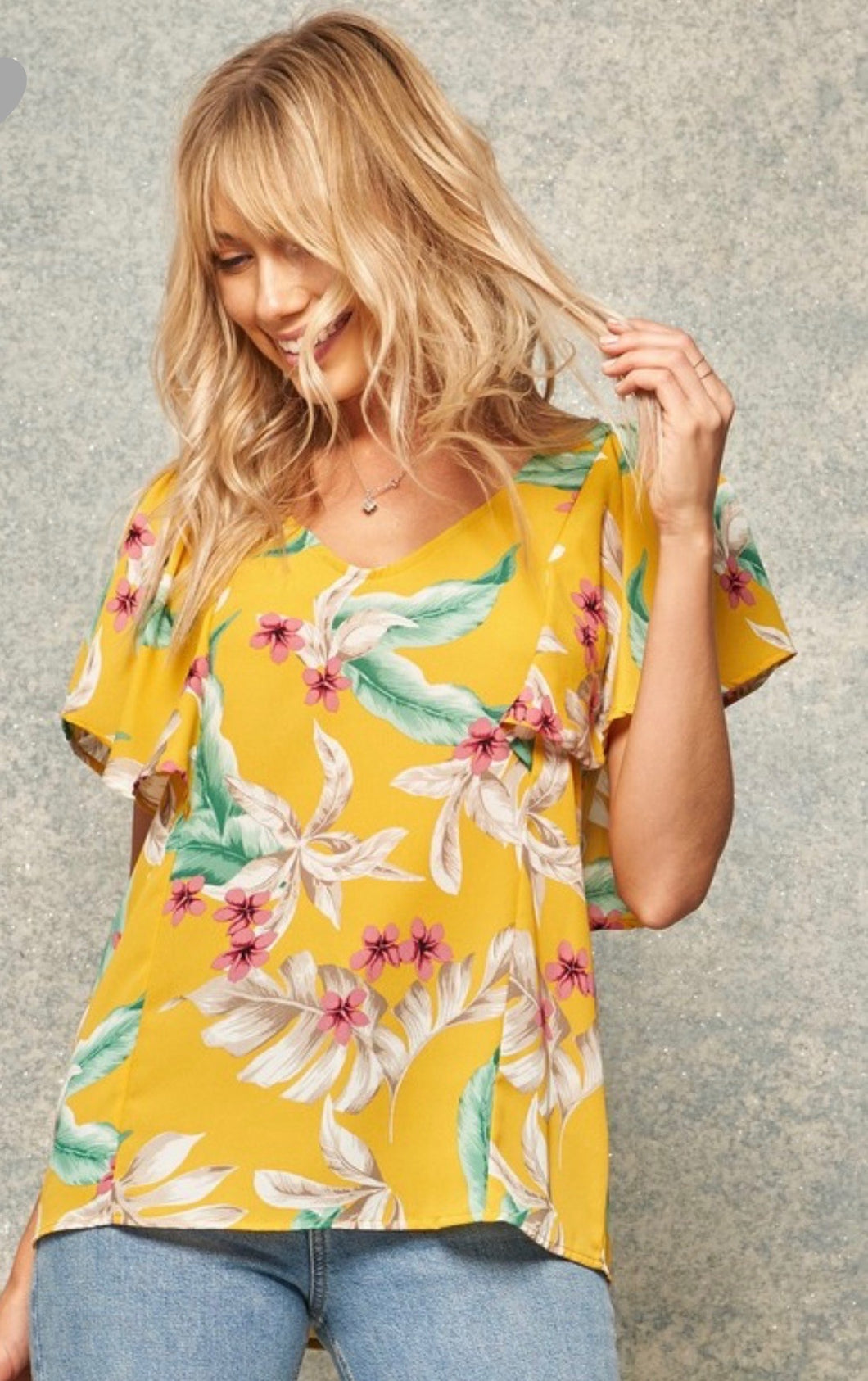 Yellow Tropical Top