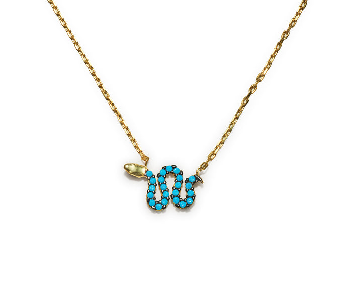 Snake Necklace - Blue