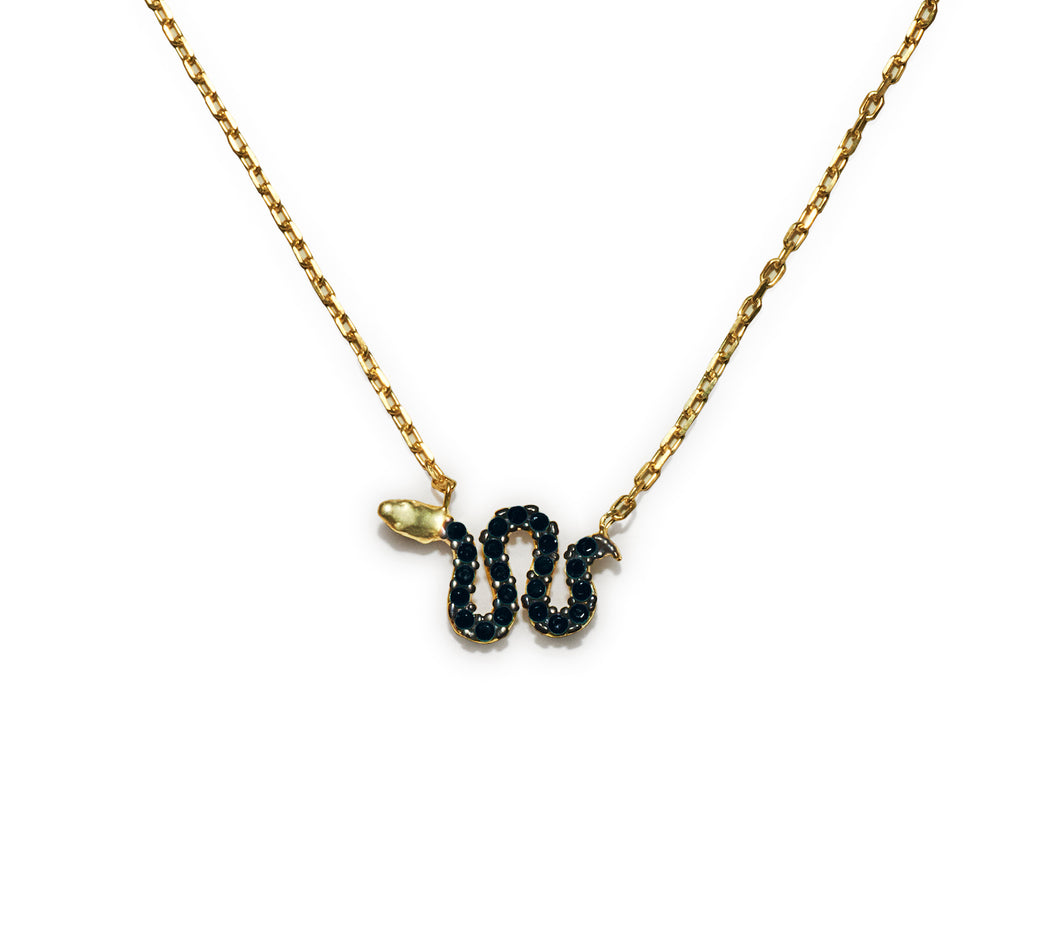 Snake Necklace - Black