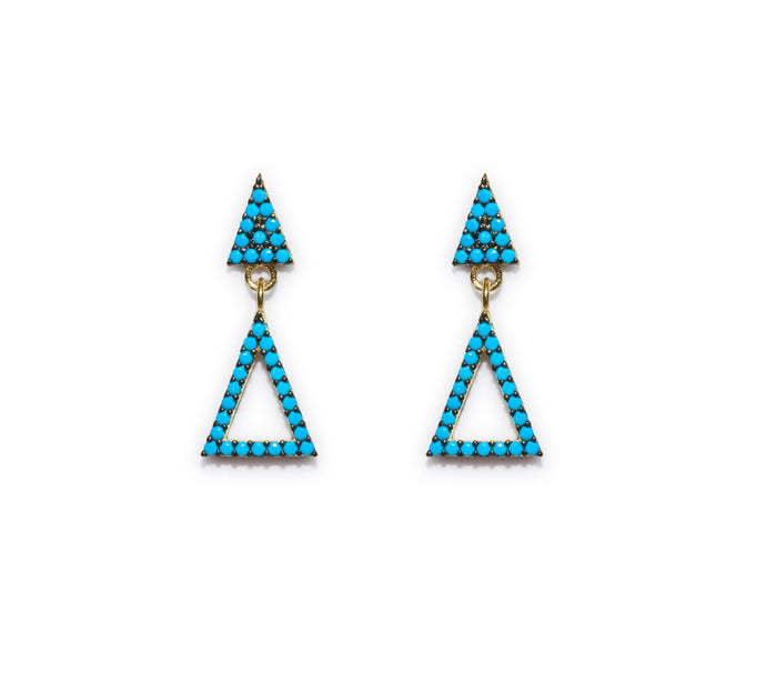 Blue Triangule Earring