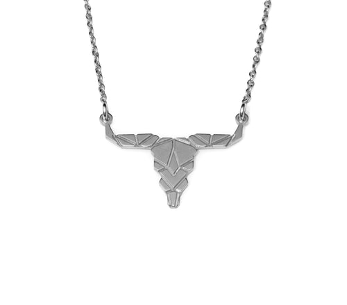 Buffalo Necklace - Silver