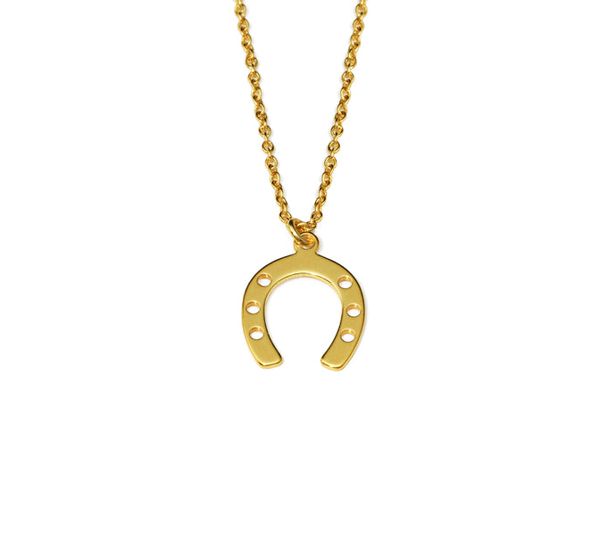 Horseshoe Necklace - Gold